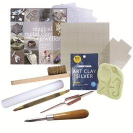 Beginners Art Clay Silver Kit - Gas Hob Firing