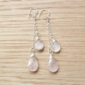 Briolette Sparkle Drop Earrings