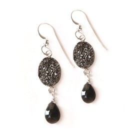 Drusy Sparkle Drop Earrings