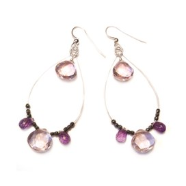 Amethyst Briolette Drop Earrings