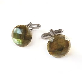 Labradorite Faceted Top Cufflinks