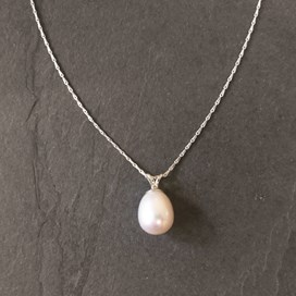 Cultured Freshwater Pearl Drop Necklace
