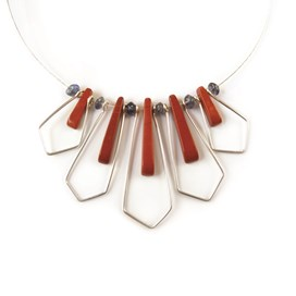 Red Jasper Geometric Necklace