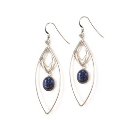 Lightening Blue Drusy Diamond Earrings
