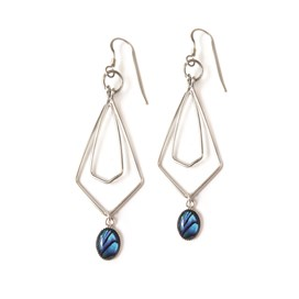 Paua Shell Geometric Earrings