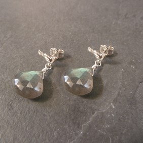 Labradorite Bird Stud Earrings