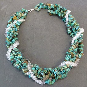 Chunky Turquoise Twist Necklace