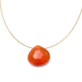 Briolette Necklace #2 Carnelian Briolette Necklace