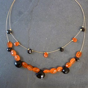 Halloween Inspired Gemstone Choker