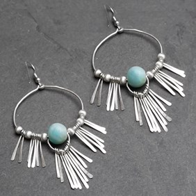 Boho Amazonite Earrings