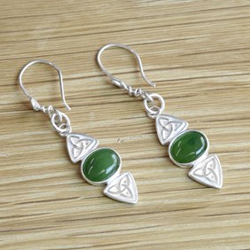 Jade Celtic Knot Earrings