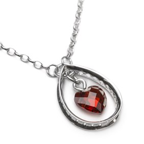 Eternity Teardrop & Heart Necklace